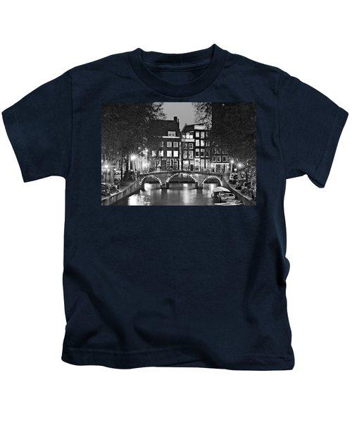 Amsterdam Bridge At Night / Amsterdam Kids T-Shirt