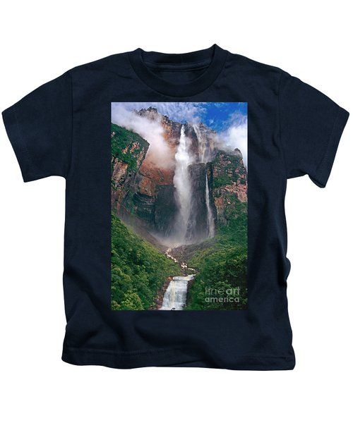 Angel Falls In Venezuela Kids T-Shirt