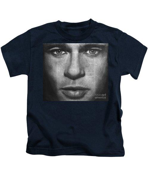 Art In The News 32- Brad Pitt Kids T-Shirt