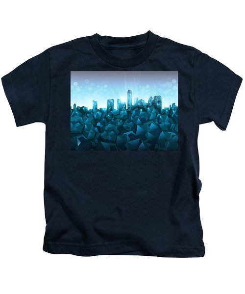 Austin Skyline Geometry 3 Kids T-Shirt