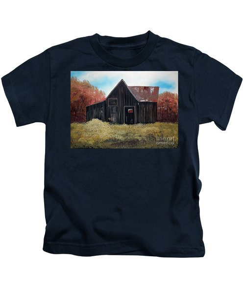 Autumn - Barn -orange Kids T-Shirt