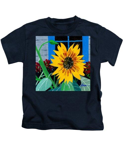 Backyard Flowers  Kids T-Shirt