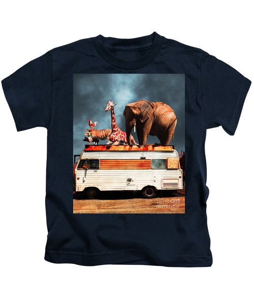 Barnum And Bailey Goes On A Road Trip 5d22705 Vertical Kids T-Shirt
