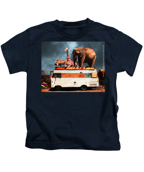 Barnum And Baileys Fabulous Road Trip Vacation Across The Usa Circa 2013 5d22705 With Text Kids T-Shirt