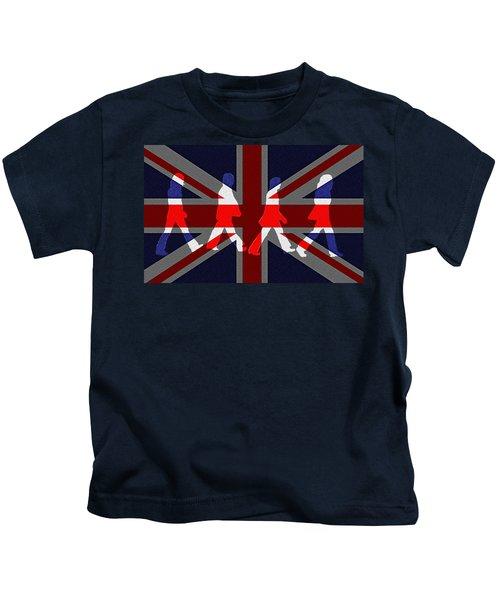 Beatles Abbey Road Flag Kids T-Shirt