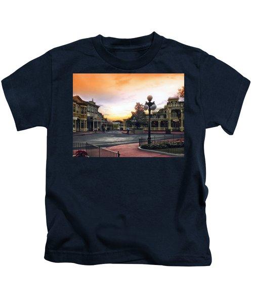 Before The Gates Open Magic Kingdom Walt Disney World Kids T-Shirt