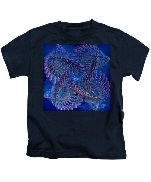 Blue 3 Kids T-Shirt