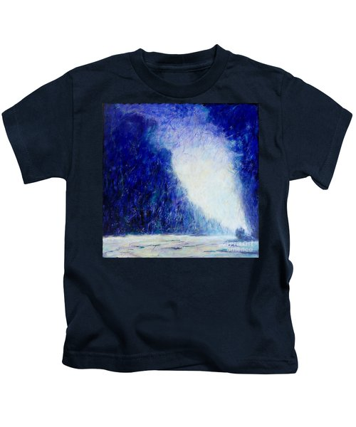 Blue Landscape - Abstract Kids T-Shirt