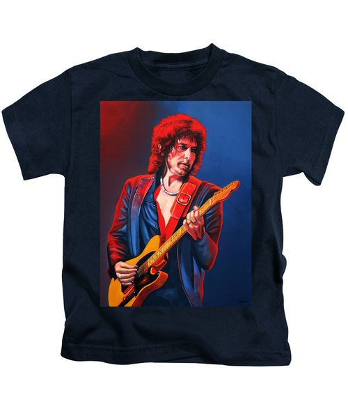 Bob Dylan Painting Kids T-Shirt