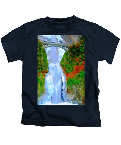 Bridge Over Beautiful Water Kids T-Shirt