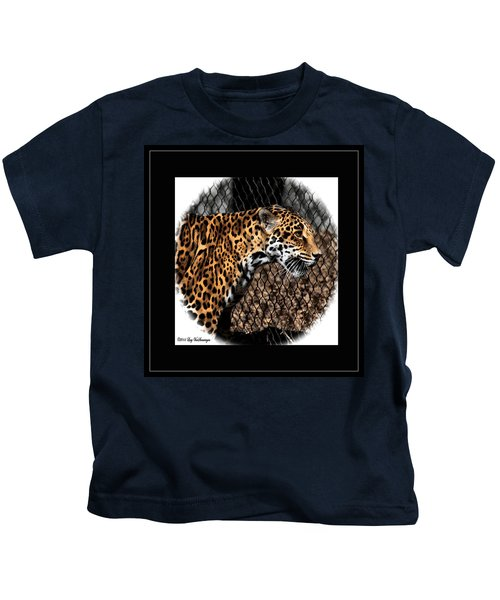 Caged Jaguar Kids T-Shirt