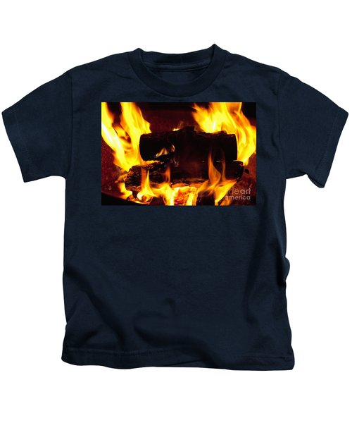 Campfire Burning Kids T-Shirt