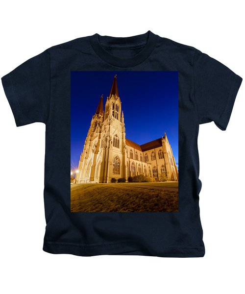 Morning At The Cathedral Of St Helena Kids T-Shirt