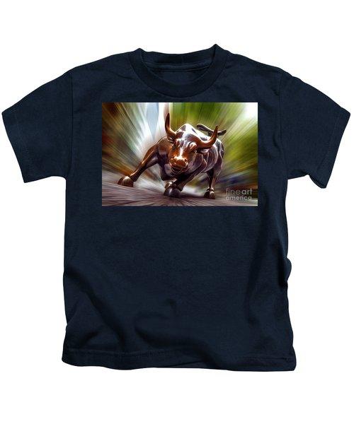 Charging Bull Kids T-Shirt