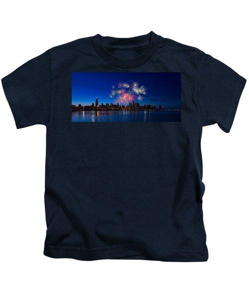 Chicago Lakefront Fireworks Kids T-Shirt