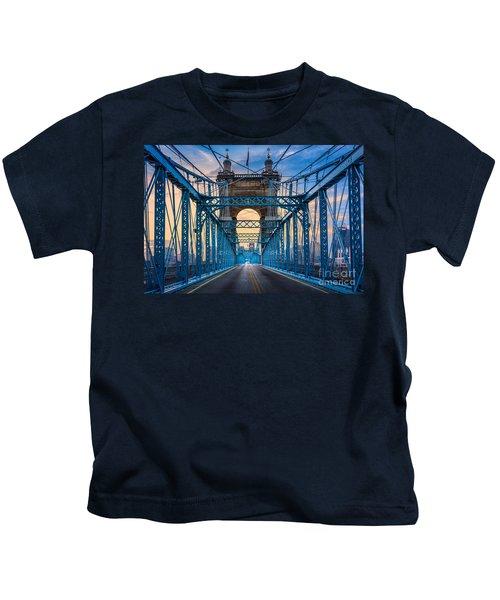 Cincinnati Suspension Bridge Kids T-Shirt