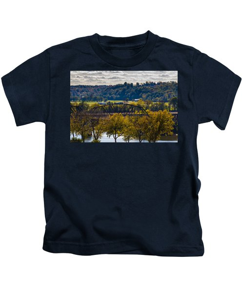 Clarksville Railroad Bridge Kids T-Shirt