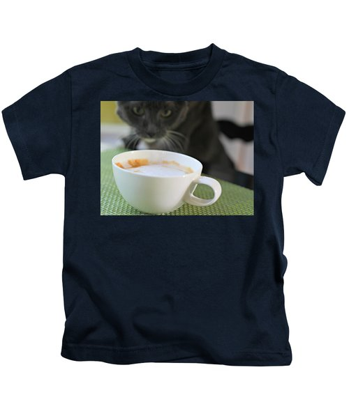 Coffee Cat Kids T-Shirt