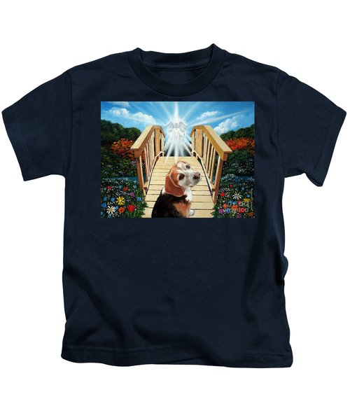 Come Walk With Me Over The Rainbow Bridge Kids T-Shirt