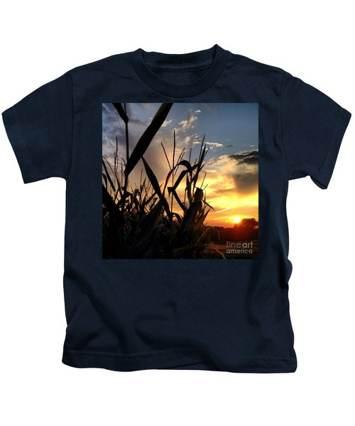 Cornfield Sundown Kids T-Shirt