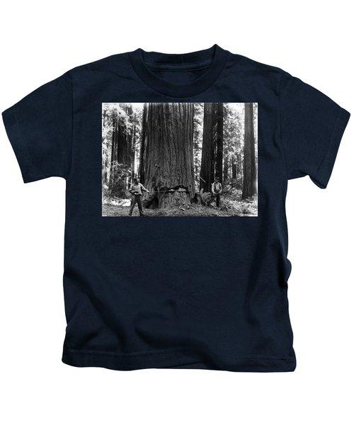 Crosscutting A Redwood C. 1900 Kids T-Shirt