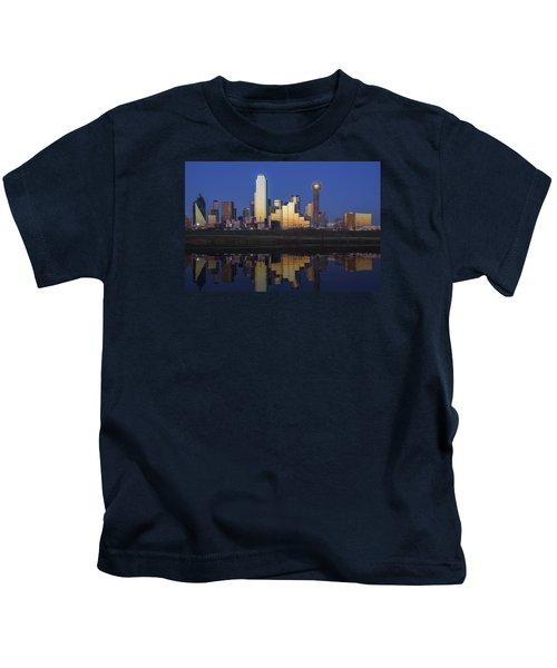 Dallas Twilight Kids T-Shirt by Rick Berk