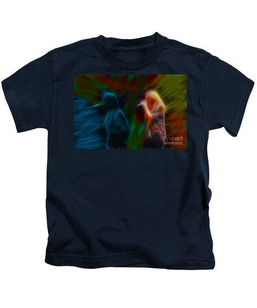 Def Leppard-adrenalize-jor-gb20--fractal Kids T-Shirt by Gary Gingrich Galleries