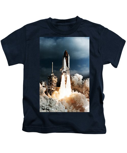 Discovery Hubble Launch Sts-31 Kids T-Shirt