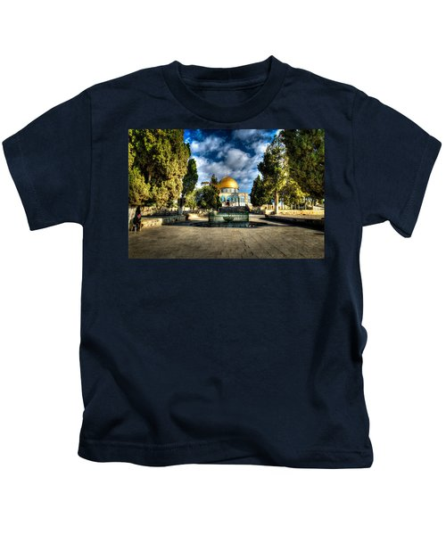 Dome Of The Rock Hdr Kids T-Shirt