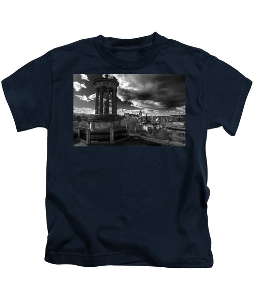 Edinburgh From Calton Hill Kids T-Shirt