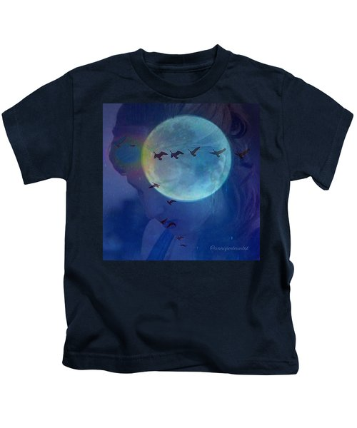 Edit To The Poem Oh Moon Kids T-Shirt