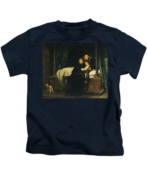 Edward V 1470-83 And Richard, Duke Of York In The Tower Les Enfants Dedouard 1830 Oil On Canvas See Kids T-Shirt by Hippolyte Delaroche