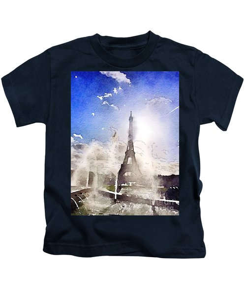 Eiffel During Summer Kids T-Shirt