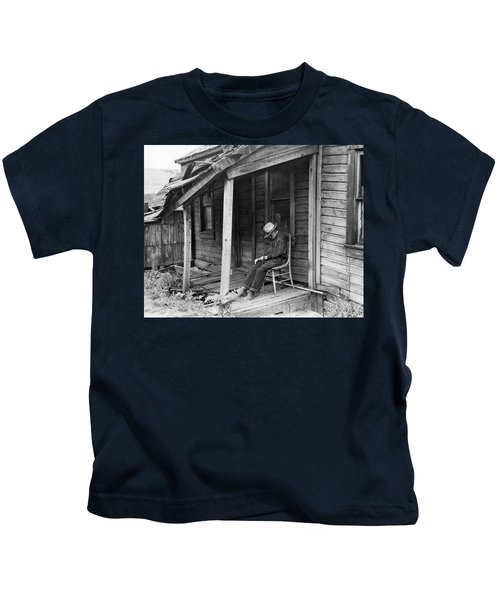 Elderly Man Doses On His Porch Kids T-Shirt