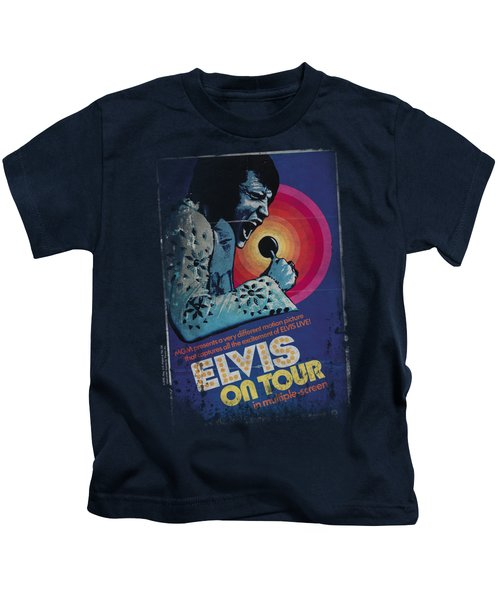 Elvis - On Tour Poster Kids T-Shirt