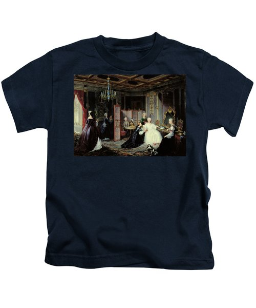 Empress Catherine The Great 1729-96 Receiving A Letter, 1861 Oil On Canvas Kids T-Shirt