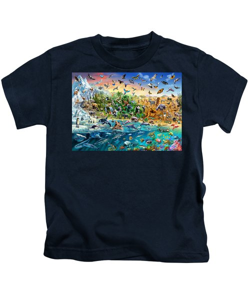 Endangered Species Kids T-Shirt by Adrian Chesterman