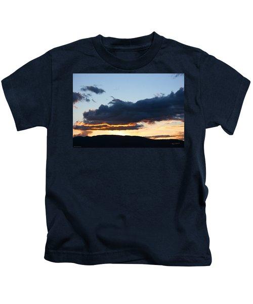 Evening Clouds Over Medford Kids T-Shirt