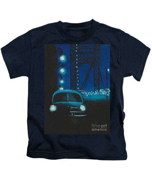 Film Noir In Blue #1 Kids T-Shirt
