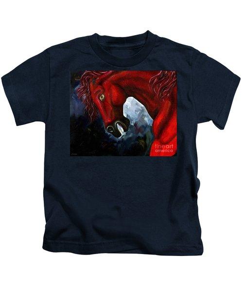 Fire And Ash I - Vesuvius Kids T-Shirt