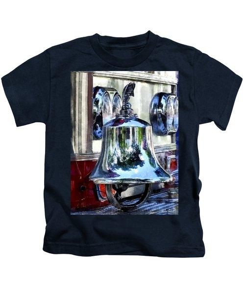 Fire Engine Bell Closeup Kids T-Shirt