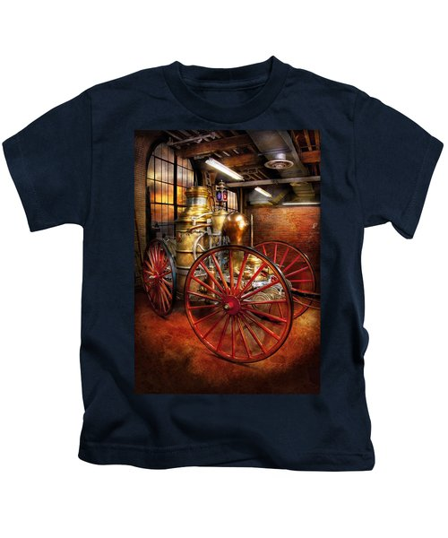Fireman - One Day A Long Time Ago  Kids T-Shirt