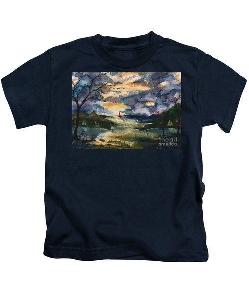 First One Out Of The Cove  Kids T-Shirt