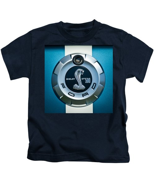 Kids T-Shirt featuring the photograph Ford Shelby Gt 500 Cobra Emblem by Jill Reger