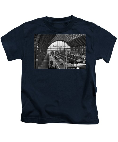 Frankfurt Bahnhof - Train Station Kids T-Shirt
