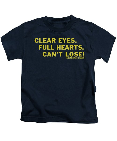 Friday Night Lights - Clear Eyes Kids T-Shirt