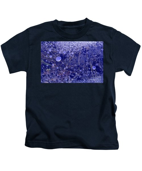 Frozen Bubbles In The Merced River Yosemite Natioinal Park Kids T-Shirt