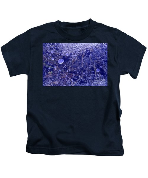 Frozen Bubbles In The Merced River Yosemite Natioinal Park Kids T-Shirt