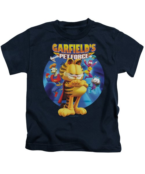 Garfield - Dvd Art Kids T-Shirt