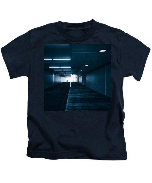Gloomy Blue Kids T-Shirt
